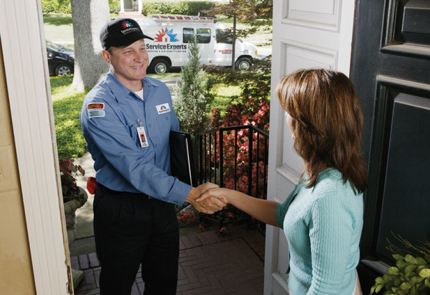 in-home estimate from Service Experts Heating & Air Conditioning